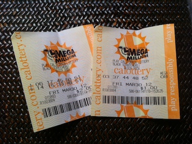 Mega Millions Supper Lotto Tickets