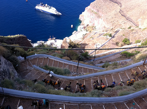 adventure vacation ideas santorini