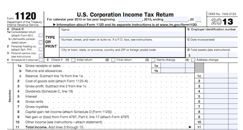 Business Tax Return Form Dolapgnetband