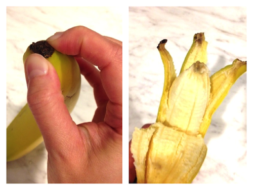 life hacks peel banana
