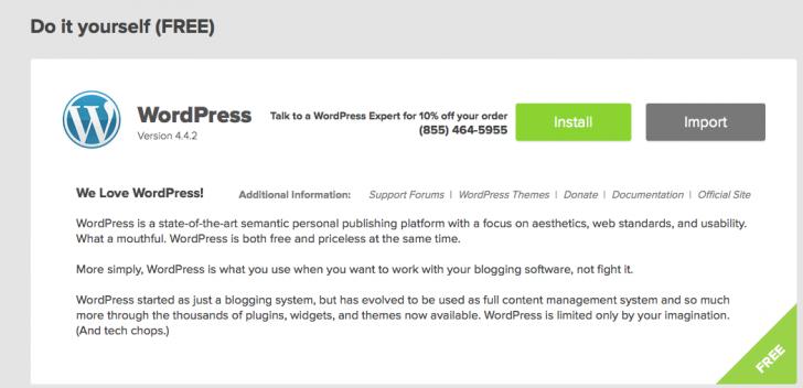 Bluehost do it yourself WordPress